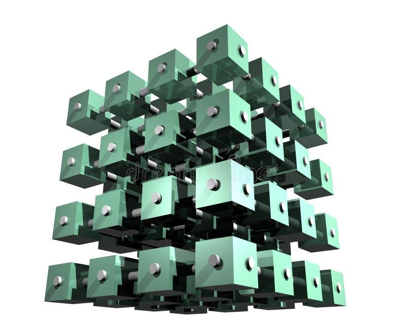 Cubos abstractos de los datos imagen de archivo