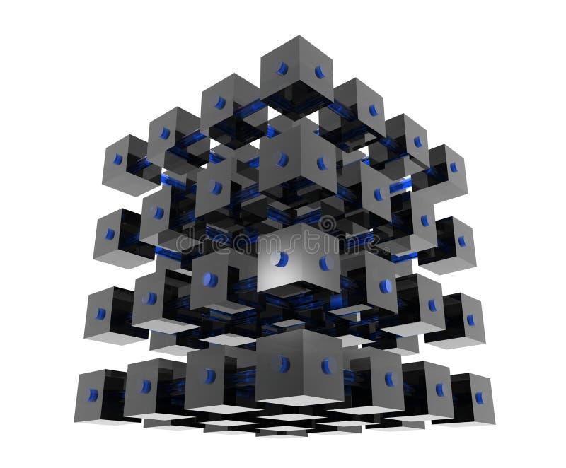 Cubos abstractos de los datos fotografía de archivo libre de regalías