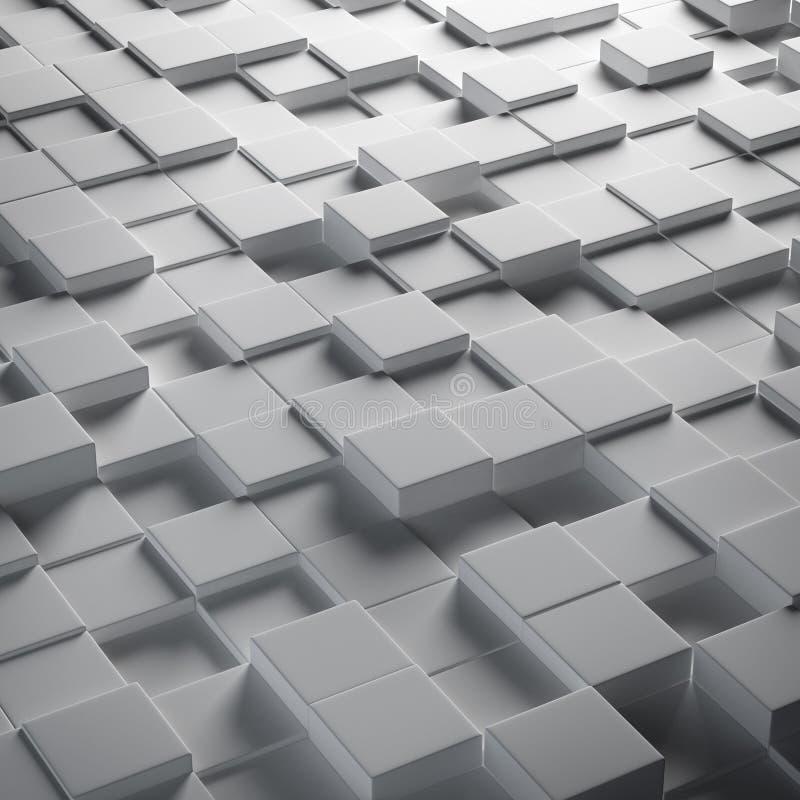 Cubos abstratos ilustração do vetor