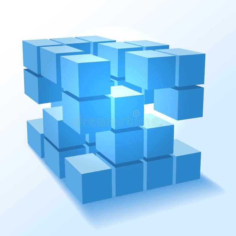 Cubos apilados del bloque ilustración del vector