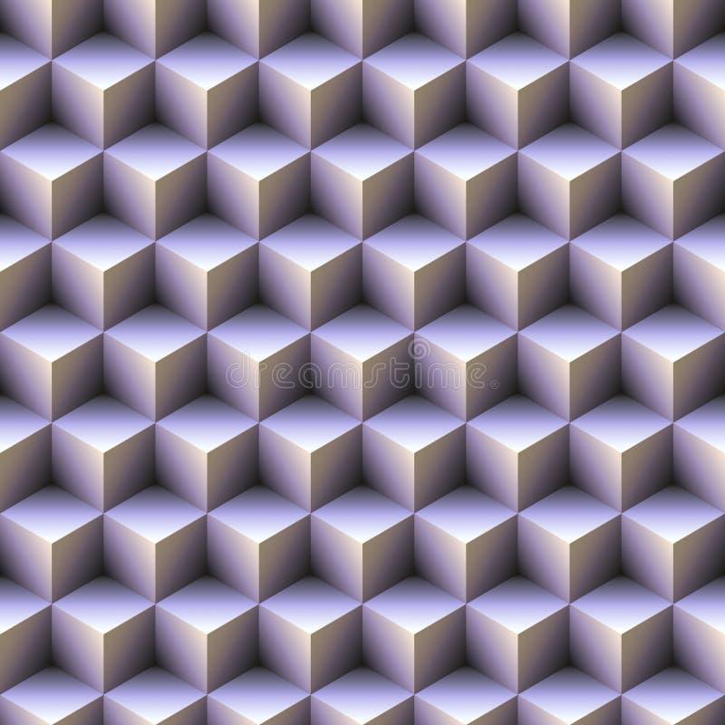 Cubos azuis ilustração do vetor