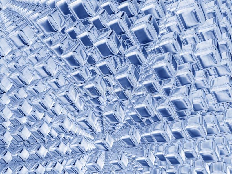 Cubos azuis de prata ilustração royalty free