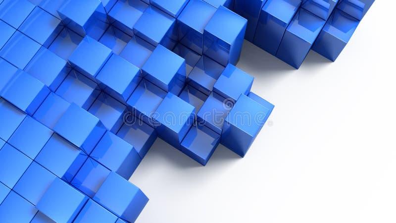 Cubos azules del bloque stock de ilustración