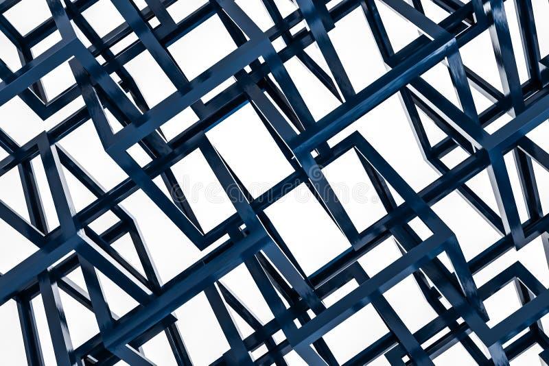 Cubos azules sobre el fondo blanco libre illustration