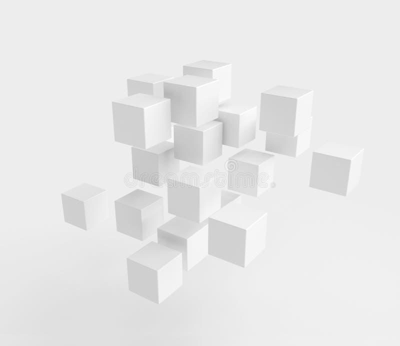 Cubos blancos libre illustration