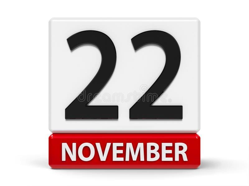 Cubos calendario 22 de noviembre libre illustration
