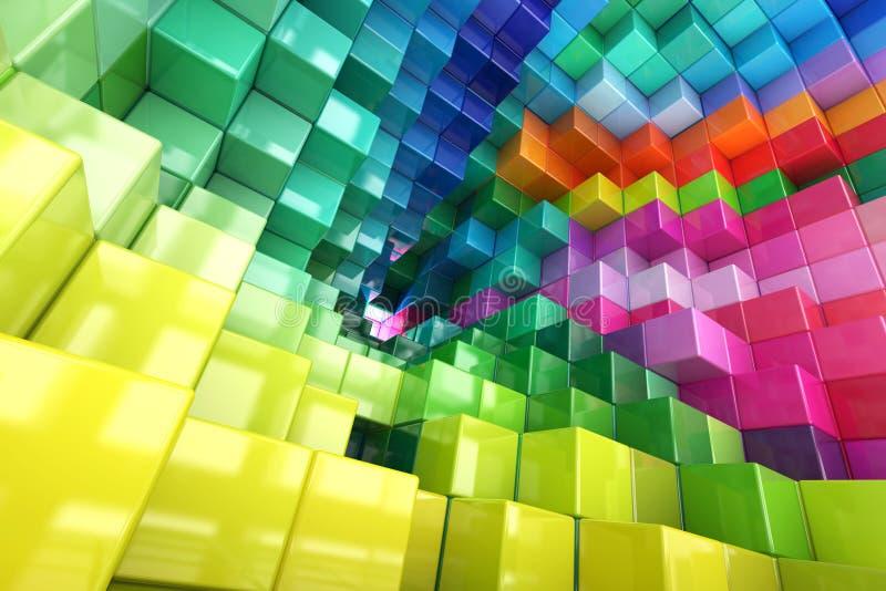 Cubos coloreados extracto libre illustration
