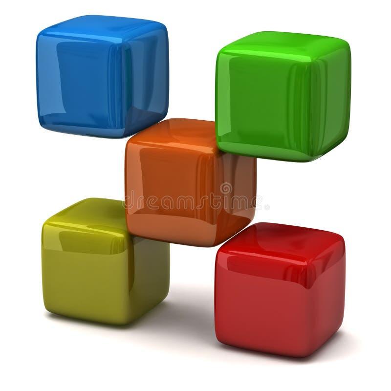 Cubos coloridos ilustração do vetor