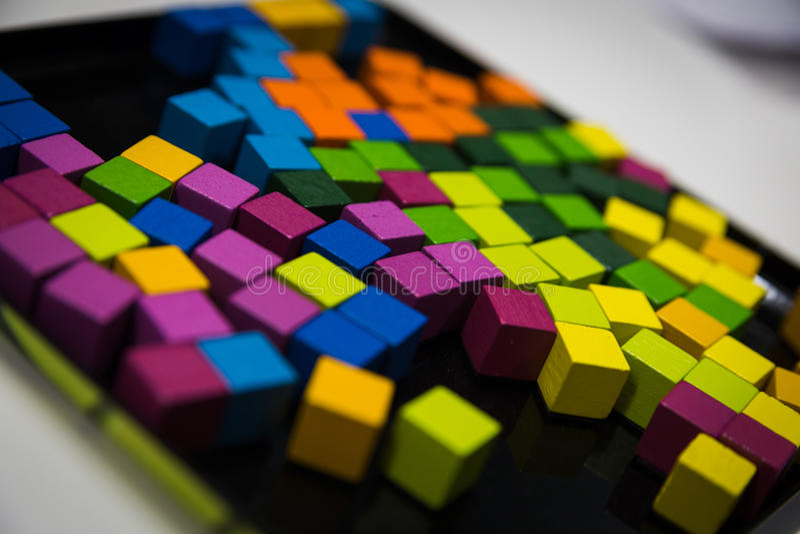 Cubos coloridos de Abstact imagem de stock royalty free