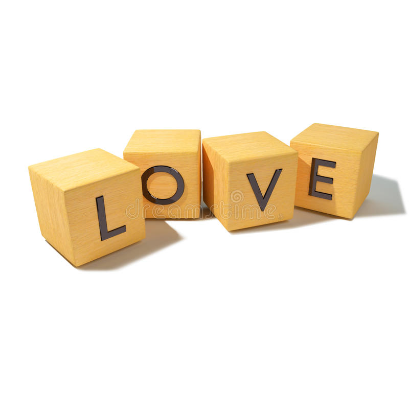 Cubos com amor imagem de stock