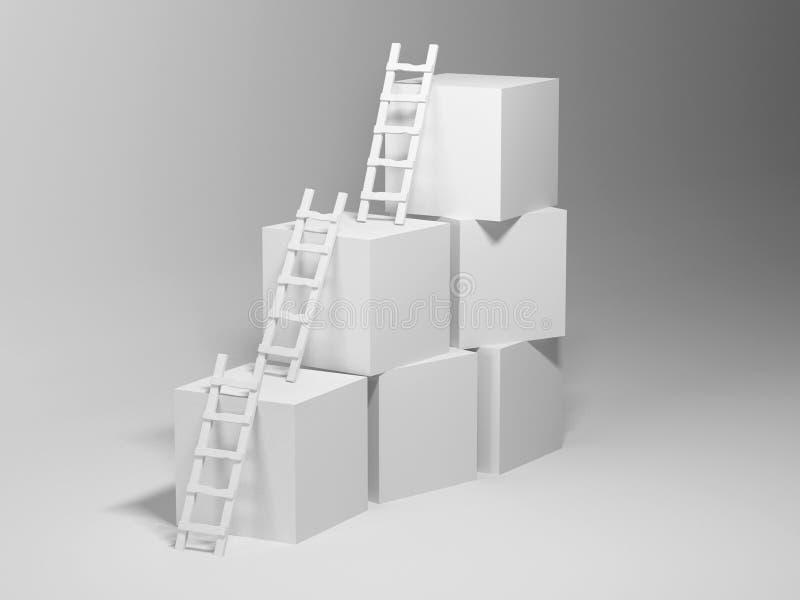 Cubos con las escalas libre illustration