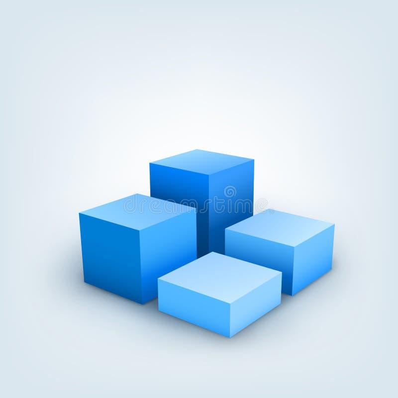 cubos 3d ilustración del vector