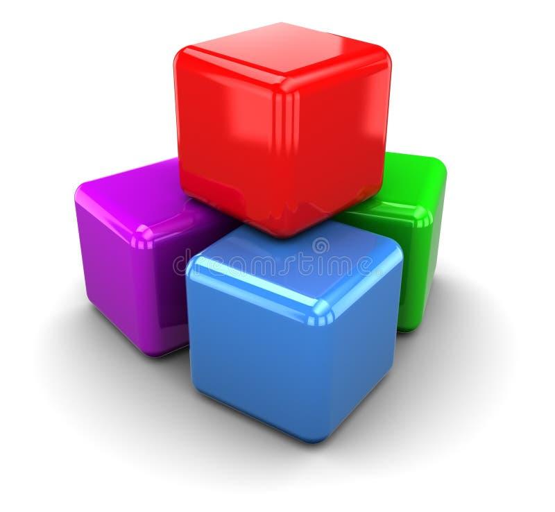 Cubos de Colorrful stock de ilustración