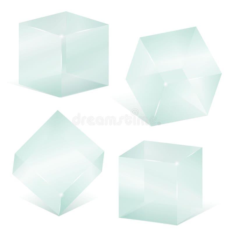 Cubos de cristal ilustración del vector