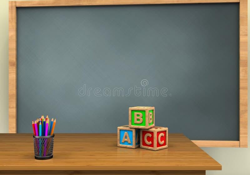 cubos de 3D ABC ilustração do vetor