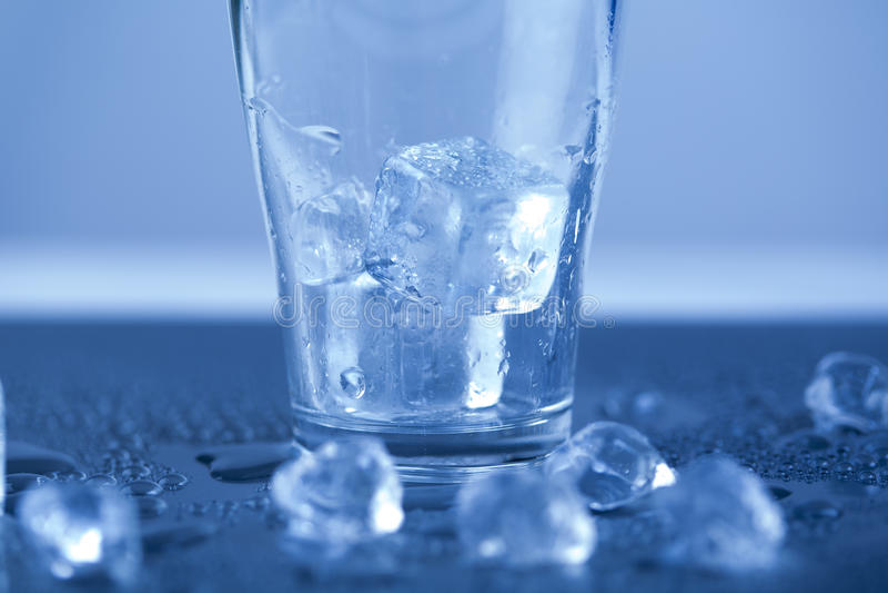 Cubos de gelo, bebida do álcool fotografia de stock