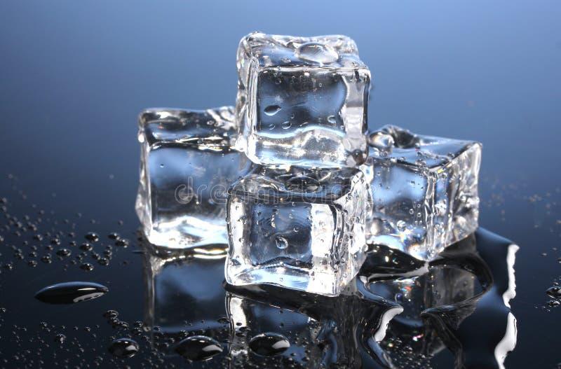 Cubos de gelo de derretimento imagens de stock