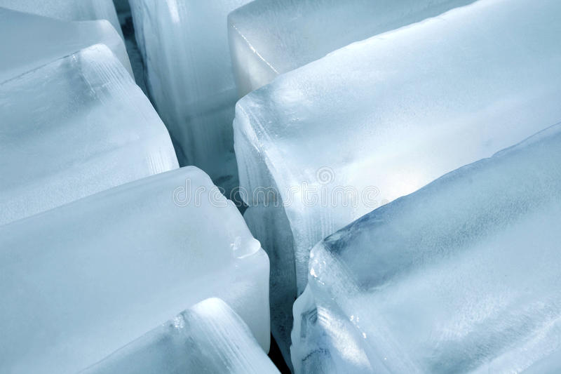 Cubos de hielo foto de archivo libre de regalías