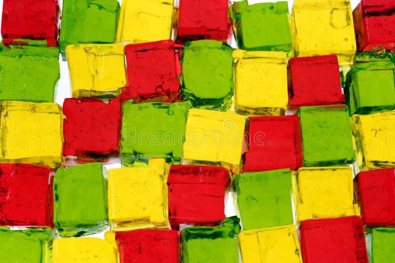 Cubos de Jello fotos de archivo