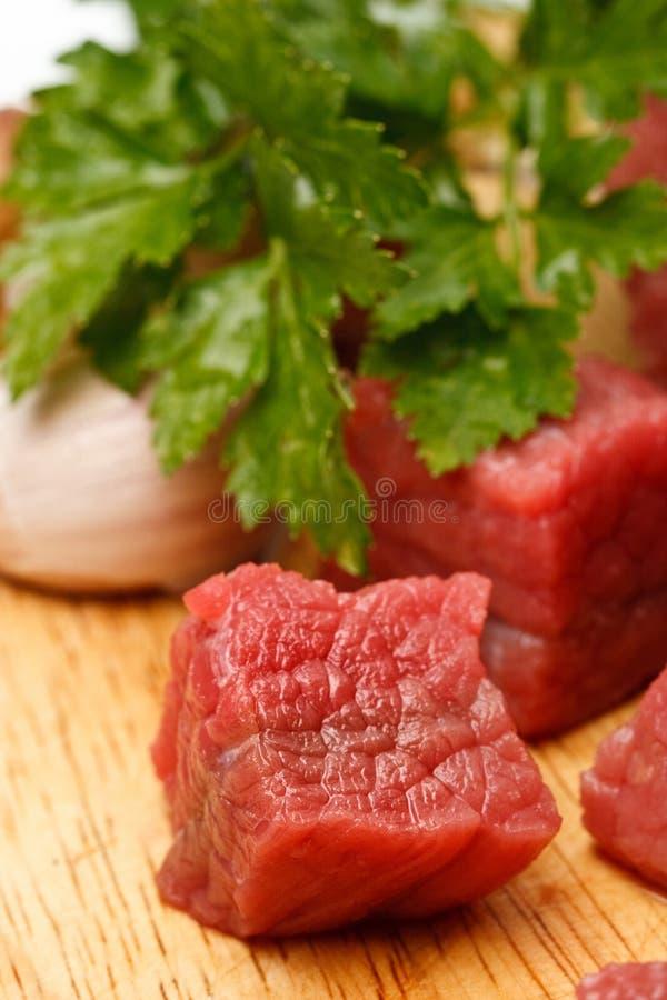 Cubos de la carne de vaca foto de archivo libre de regalías