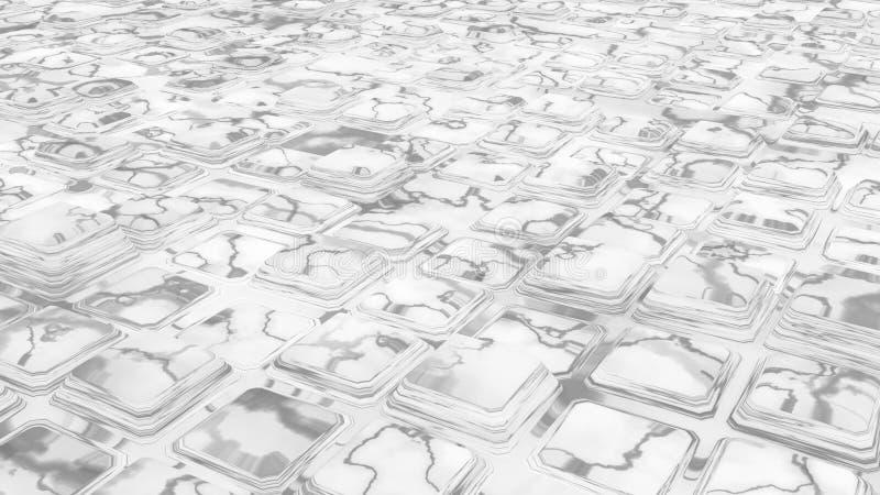 Cubos de mármore brancos infinitos ilustração royalty free