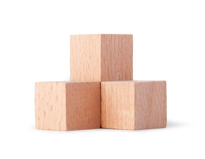 Cubos de madeira foto de stock