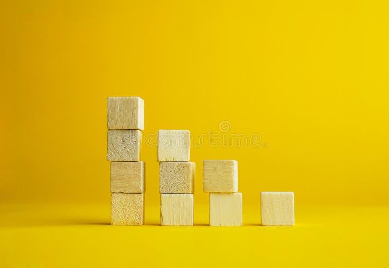 Cubos de madera foto de archivo
