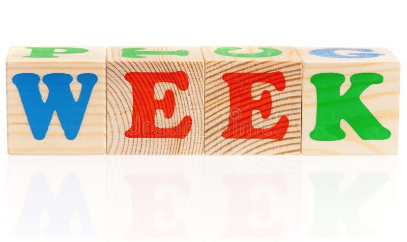 Cubos de madera imágenes de archivo libres de regalías