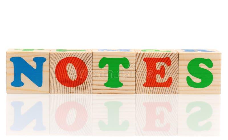Cubos de madera con las letras imagen de archivo libre de regalías