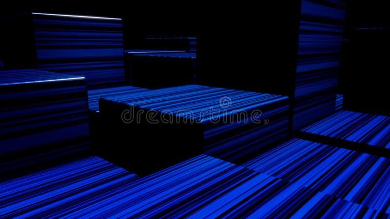 Cubos de ne?n brillantes del extracto Fondo de los cubos de las luces de ne?n Cubos coloridos libre illustration