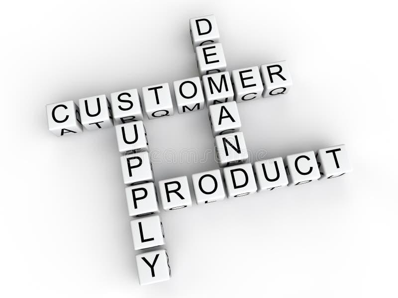 Cubos de oferta y demanda del producto del cliente ilustración del vector