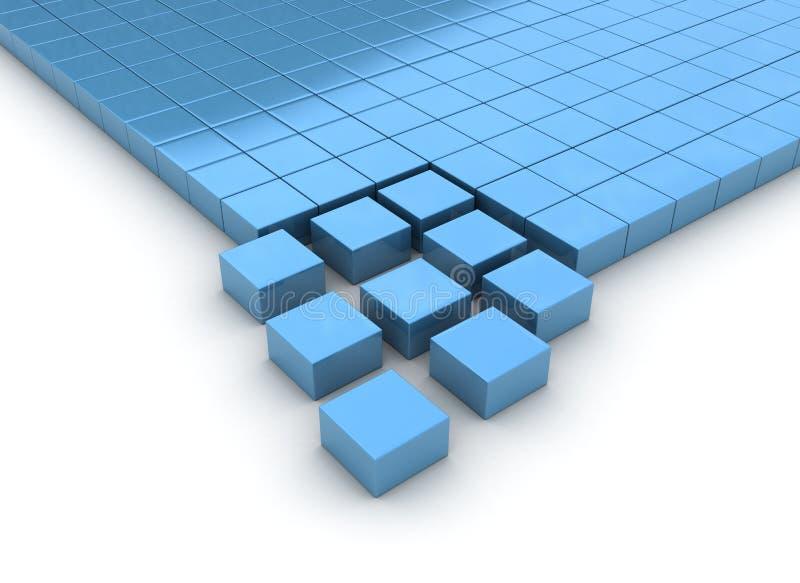 Cubos de organização ilustração stock