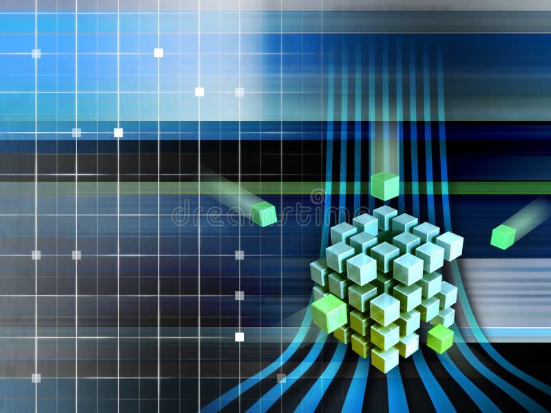 Cubos de Techno stock de ilustración