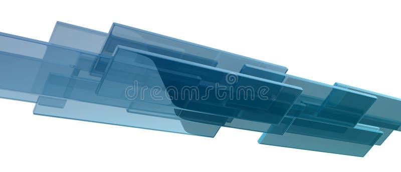 Cubos de vidro ilustração royalty free