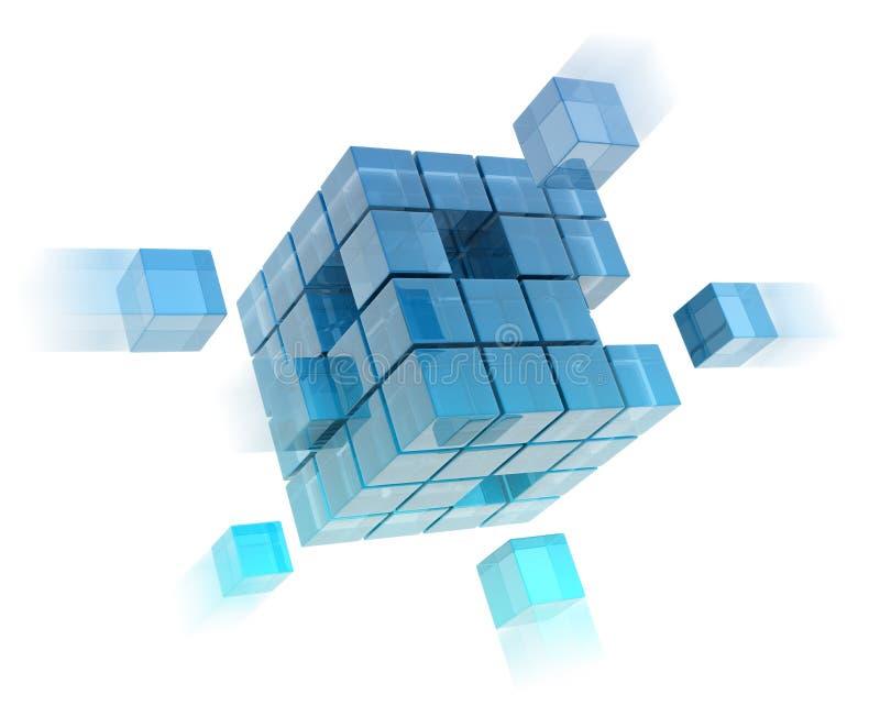 Cubos de vidro ilustração stock