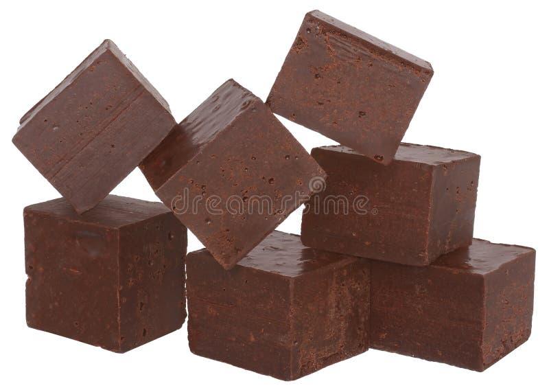 Cubos del chocolate fotos de archivo