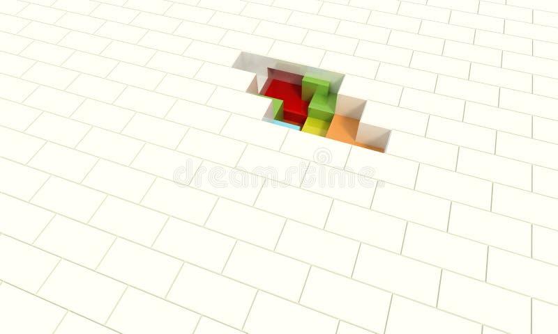 Cubos del color stock de ilustración