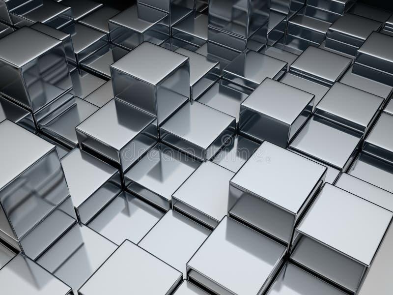 Cubos del metal stock de ilustración