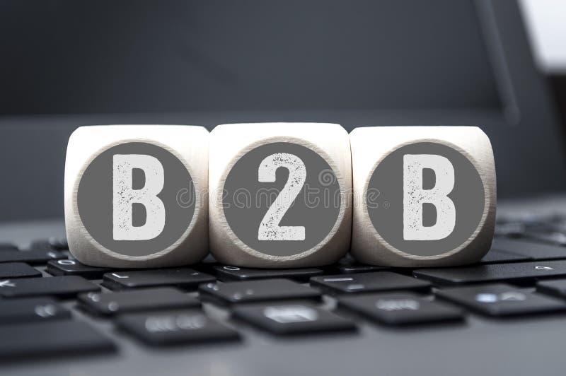 Cubos del negocio de B2B fotografía de archivo libre de regalías