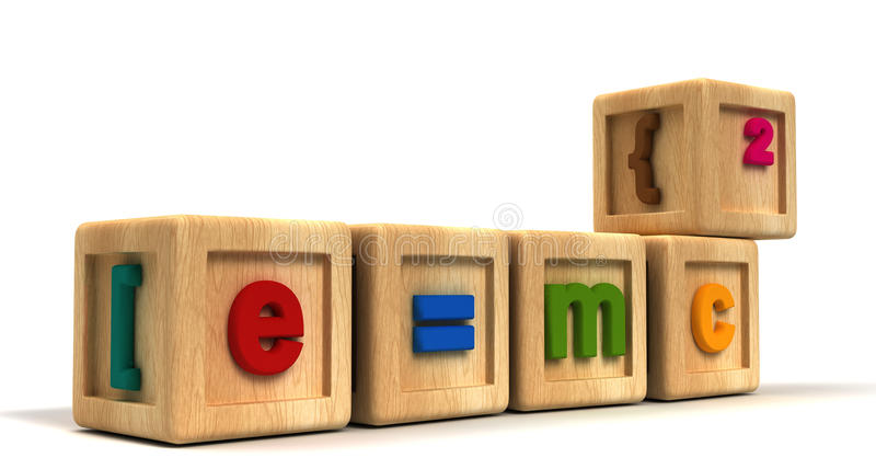 Cubos del niño de Einstein ilustración del vector