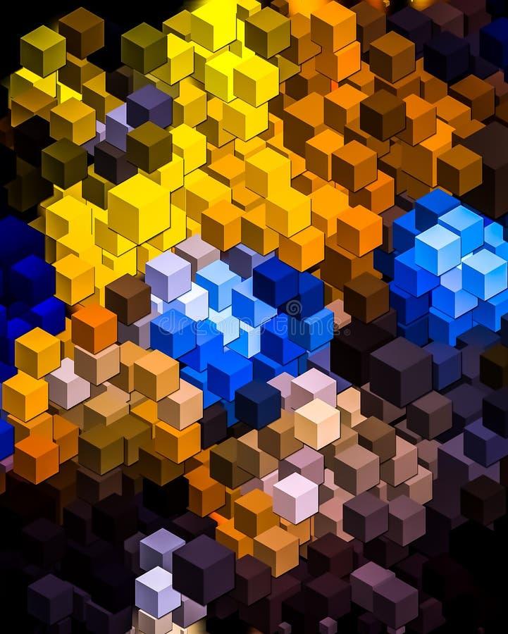 cubos del retrato 3D libre illustration