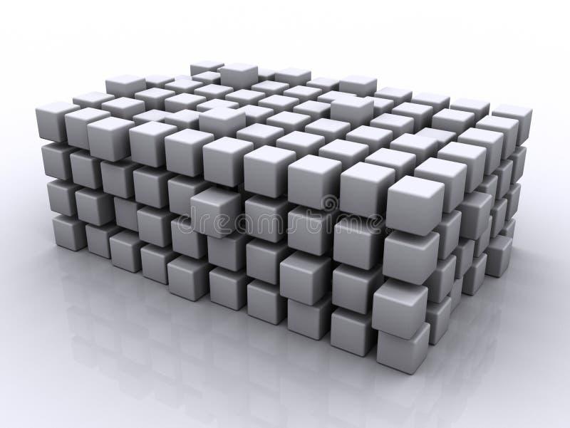 Cubos del rompecabezas stock de ilustración