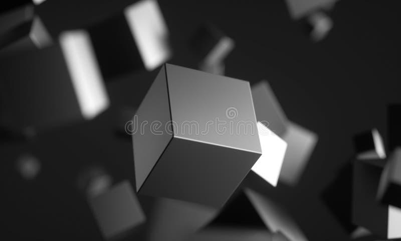 Cubos del Scifi en espacio vac?o libre illustration