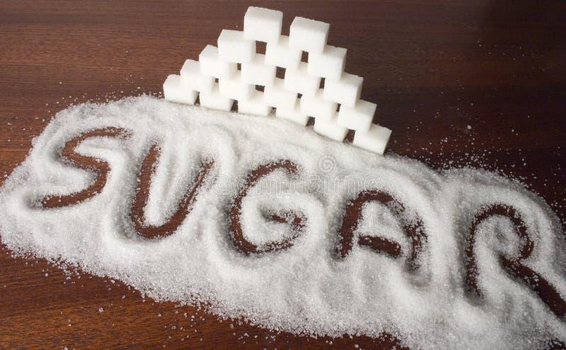 Cubos do açúcar foto de stock
