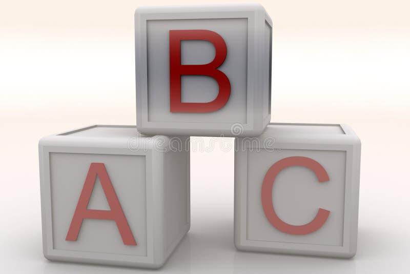 Cubos do ABC ilustração royalty free