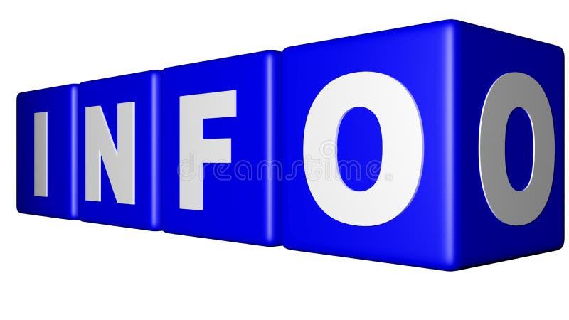 Cubos do azul da informação ilustração royalty free
