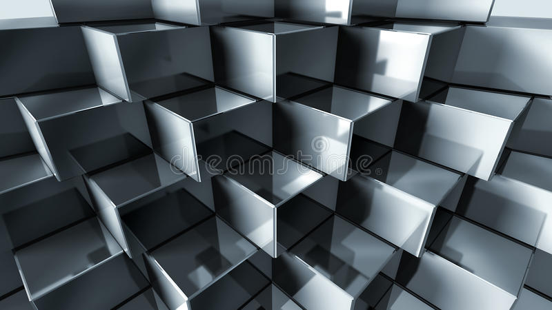 Cubos do metal ilustração do vetor