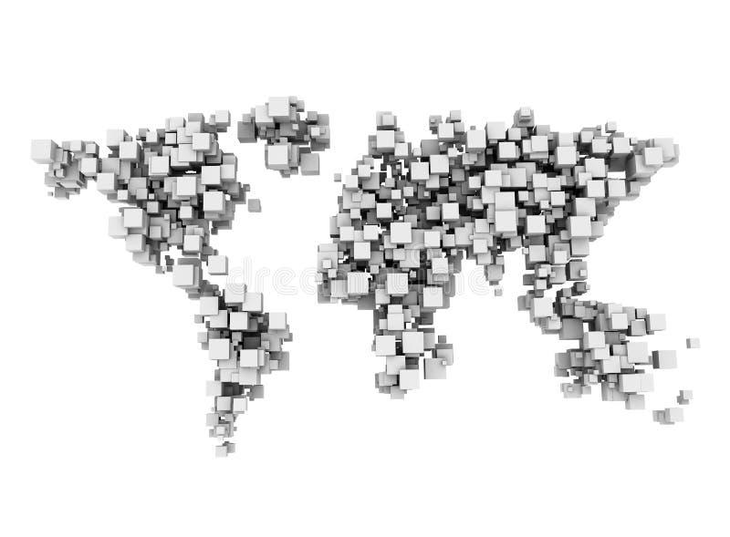Cubos do mundo de Digitas ilustração royalty free