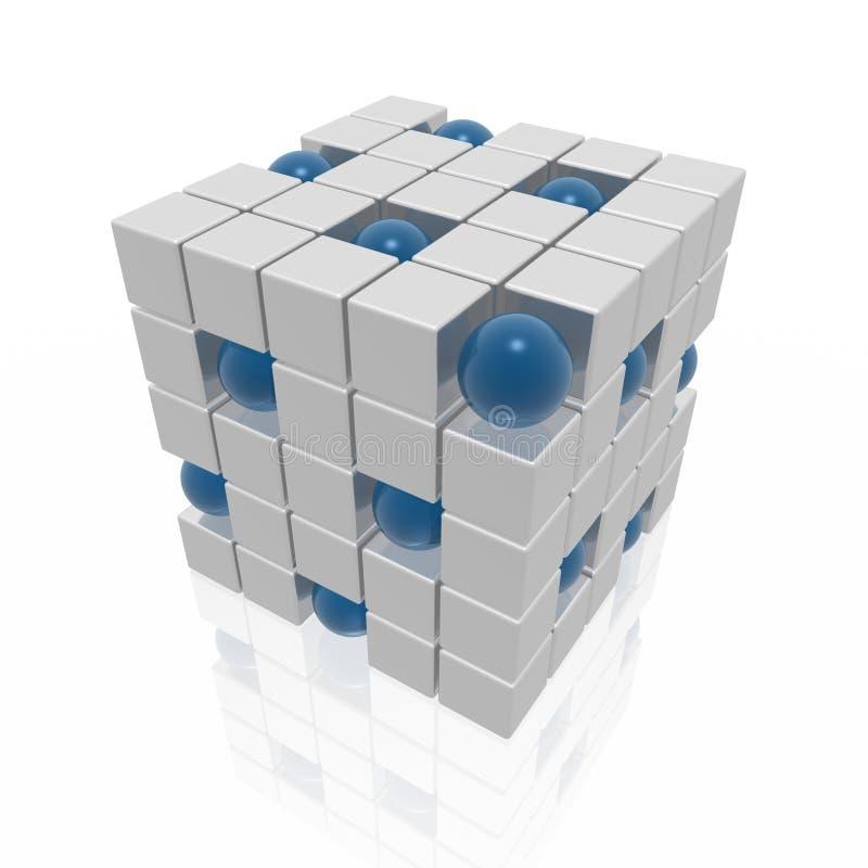 Cubos e esferas ilustração do vetor