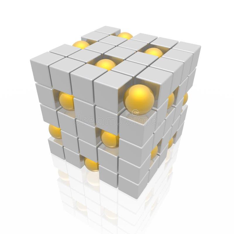 Cubos e esferas ilustração royalty free